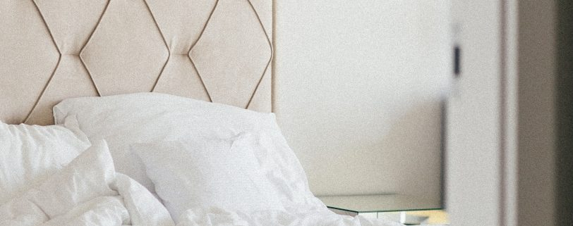 Tete de lit en tissu